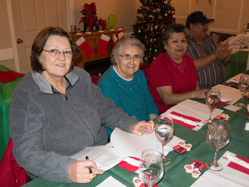 December 2013 board meeting. Barb Louttit, former board member Maude Tyrer, Maureen McCauley, Leon Sackaney.