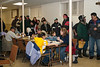 Lining up for dinner at Keewaytinok Native Legal Services Annual General 2005 January 19p