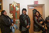 Lining up for dinner at Keewaytinok Native Legal Services Annual General 2005 January 19