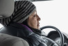 Chief Patricia Faries driving over to workshops held as part of Keewaytinok Native Legal Services Annual General Meeting 2017 February 15th.