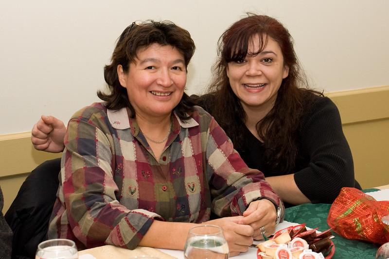 Keewaytinok interpreter with local lawyer Mary Chakasim