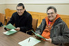 Moose Cree First Nation reps: Greg Rickard and Peter Wesley at Annual General Meeting of Keewaytinok Native Legal Services held in Moosonee, Ontario on 2009 February 18th. Keewaytinok is a legal aid clinic funded by Legal Aid Ontario.