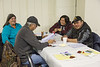Annual General Meeting of Keewaytinok Native Legal Services held in Moosonee 2014 February 12th. Rita and William Alisappi, Beverley Blueboy, Joseph Wesley.