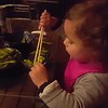 Wow, who would have thought she could use chopsticks at 2!!!