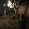 Another Czech Christmas tradition - lighting up the sparklers!