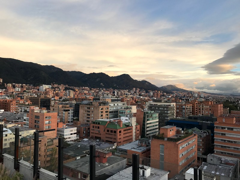 View from the rooftop of our rented apartment