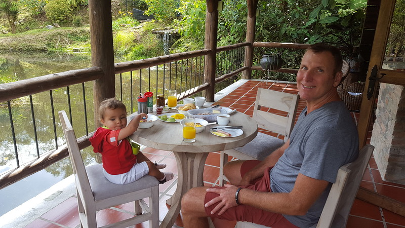 Breakfast delivered to us from the hotel and enjoyed on the porch...
