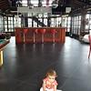 Inside the club house...