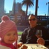 Sunny lunch in the Embarcadero. Great start to our city adventure!