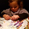 Peeling crayons - one of her favourite activities of the moment....