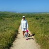 Girls hiking in Point Reyes