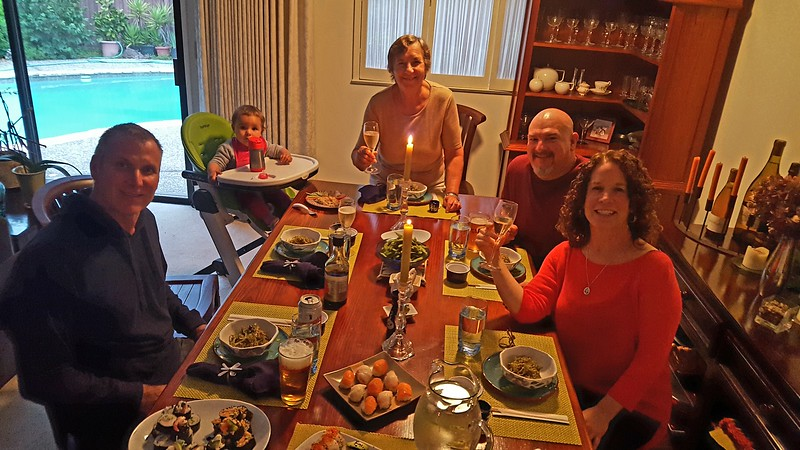 Sushi dinner with our neighbors Glenn & Kristy