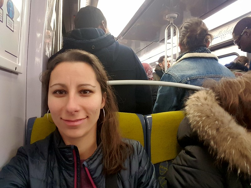 Arrived to Paris and riding the good old RER... Still as full and stinky as I remember!