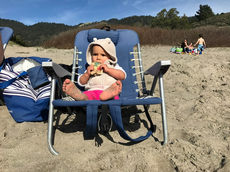 Chilling at Stinson Beach on a beautiful winter day