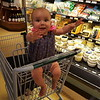 Shopping is fun - especially as I can now ride in the cart!