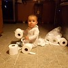 She got into our TP stash! :)