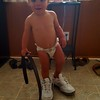 Mommy's shoes, Daddy's belt... I am ready to go!
