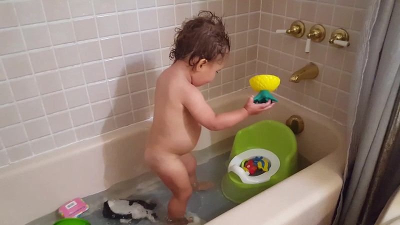 We found a new use to the potty. Opocus, salmon...Pouf, all going in!