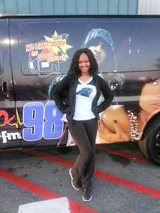 Working a Power 98 Panthers giveaway event in Charlotte, NC#promolife