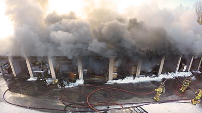 2 Alarm Building Fire - A1 Storage, Waterbury, CT - 2/18/15