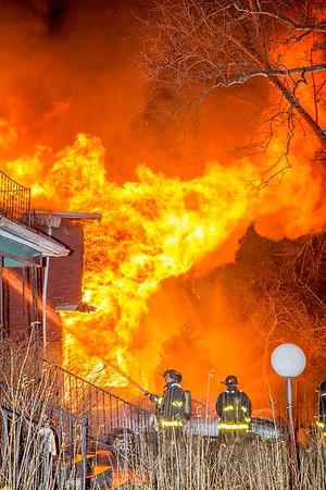 Vacant Dwelling Fire - Bewick & Mack, Detroit, MI - 4/9/17