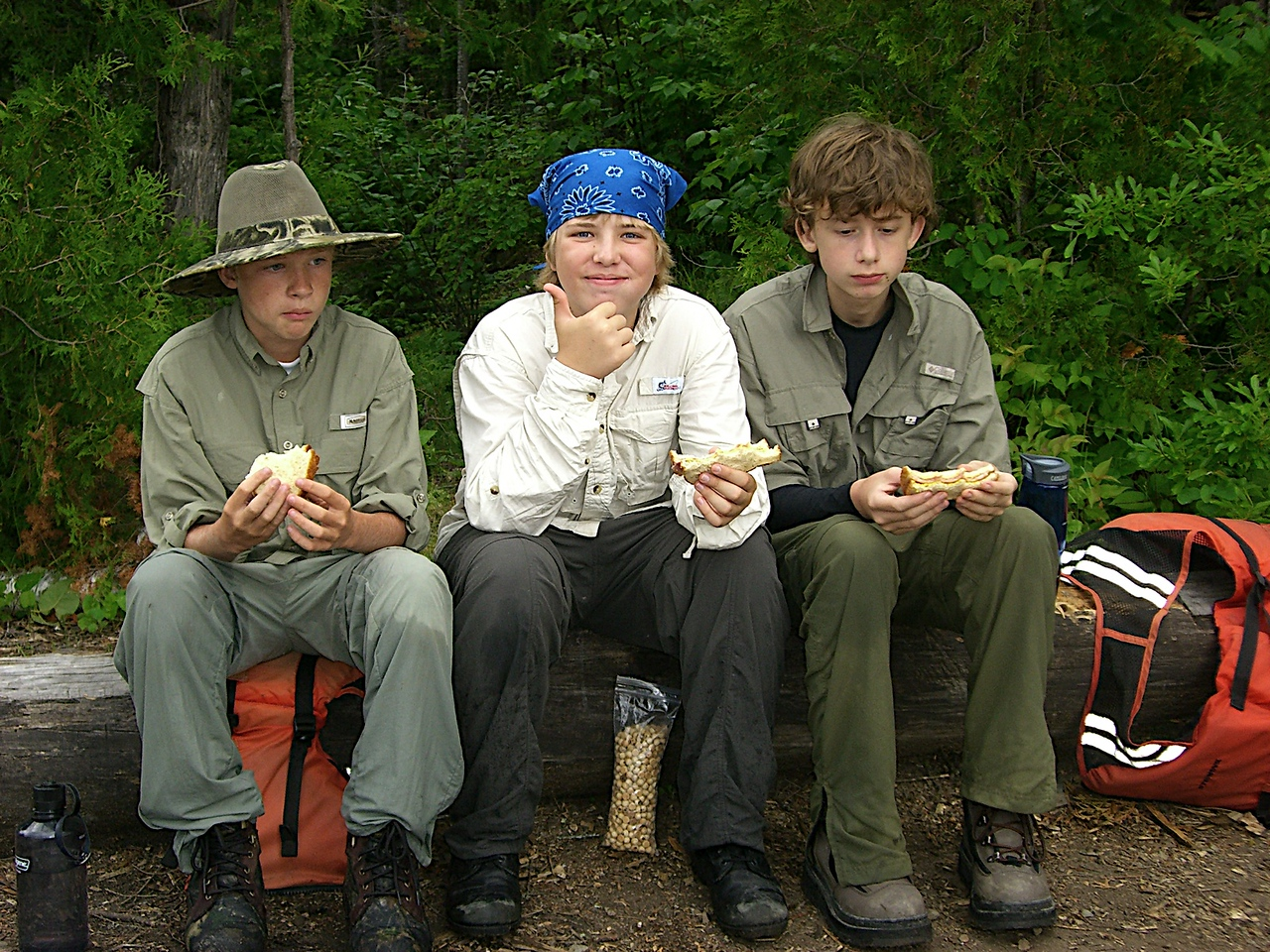 Trail lunches were awesome!  I love those mini chocolate chip cookies!  One bag per canoe!