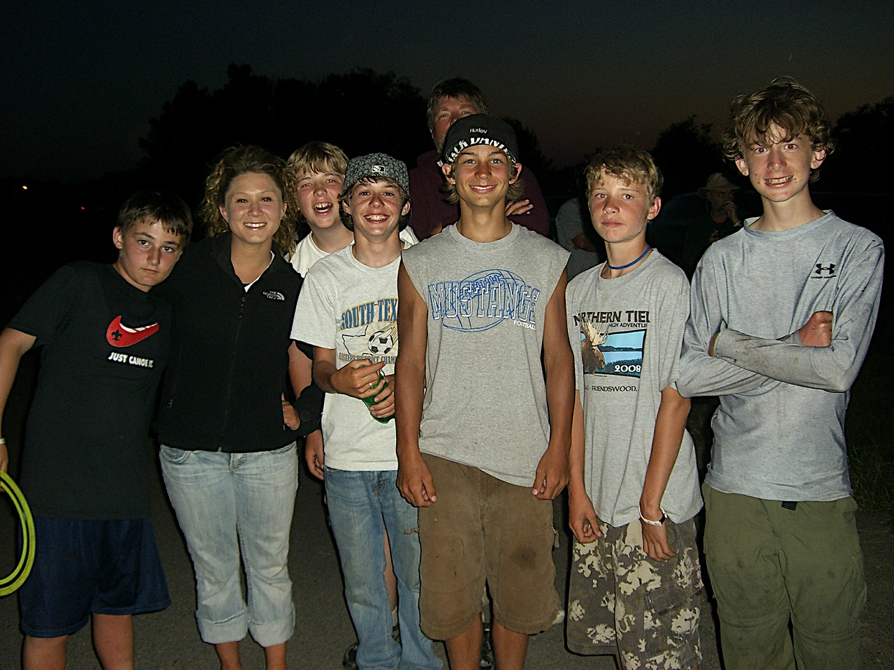 The crew with Jayna at the Fireworks.