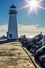 Starry Sun Over Walton Lighthouse