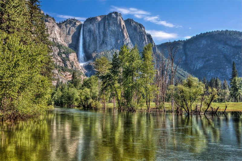 Yosemite Falls Reflection 2