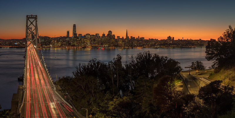San Francisco Sunset Panorama