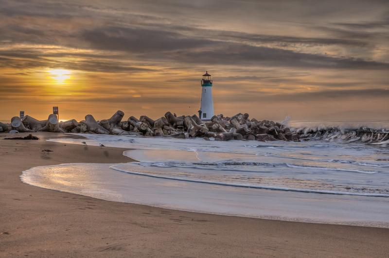 Sunrise Beach Shadows