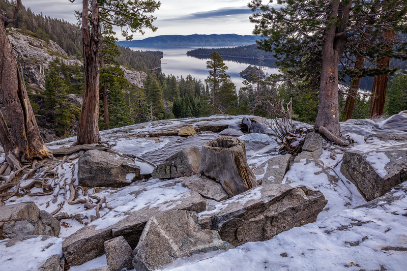 Snowy Crown Over Emerald Bay