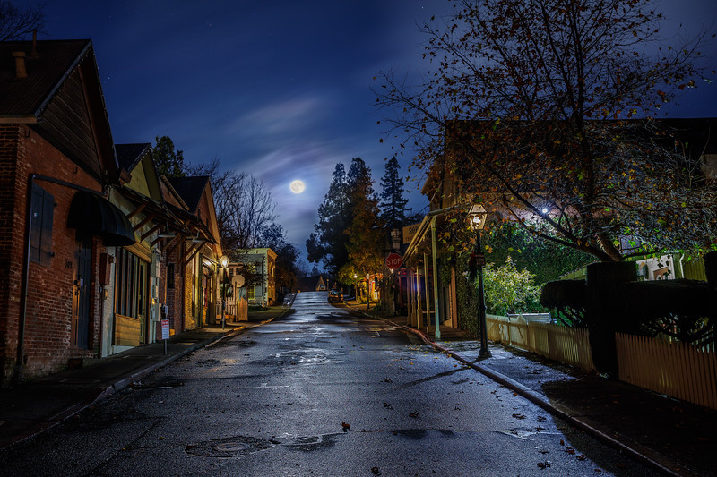 Moonlight in Nevada City 2