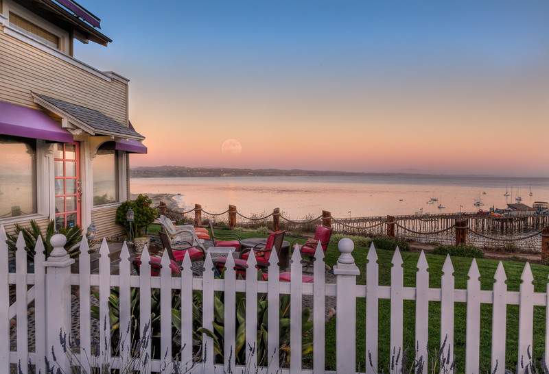 Capitola Ocean View House Moonrise 2