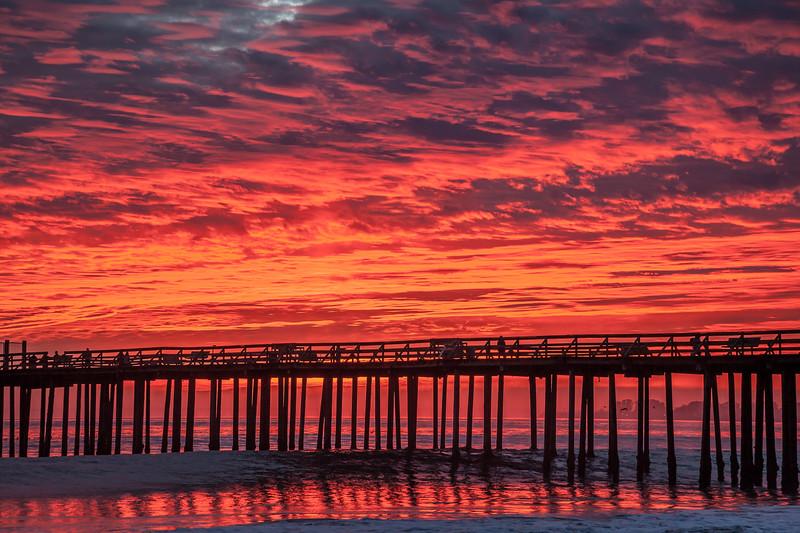 Dramatic Seaclif Beach Sunset