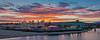 Santa Cruz Boardwalk Sunset Panorama