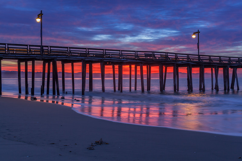 Sunrise Color at Capitola Beach 1