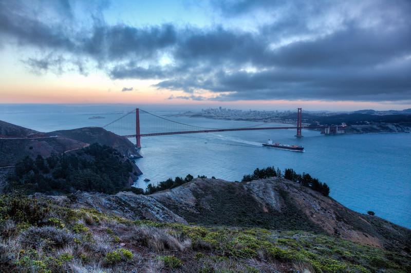 Sailing Out of San Francisco Bay
