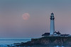 Moonset and Lighthouse