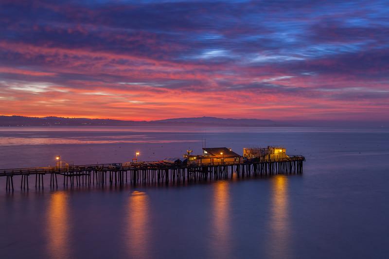 Capitola Pier Before Sunrise