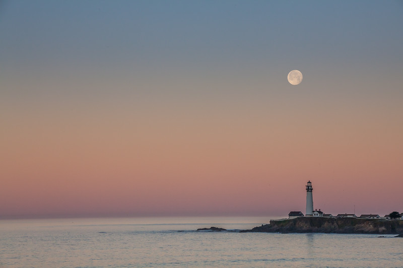 Full Moon Over Pigeon Point