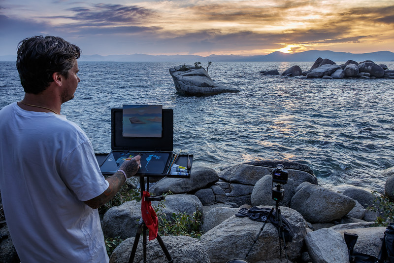 Lake Tahoe Sunset Artist