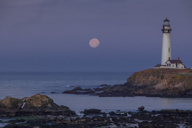 Moonset at Pigeon Point 1