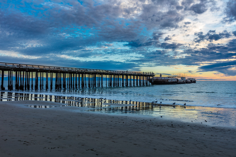 Seacliff Beach Pier Reflection 2