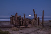 Moonset Over Waddell Creek Beach 1