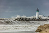 Stormy Harbor Jetty 1