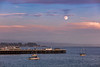 Moonrise Over Santa Cruz Pier 1