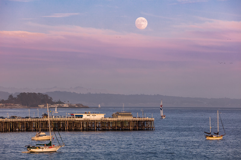 Moonrise Over Santa Cruz Pier 2