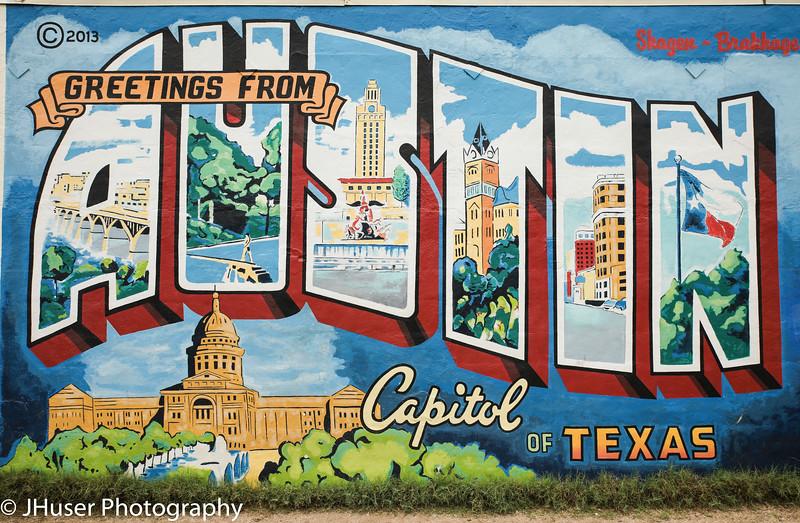 Postcard greeting from Austin Texas