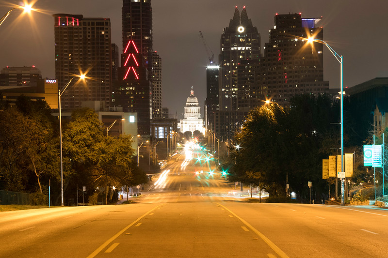 Downtown Austin at night